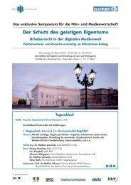 Das exklusive Symposium für die Film- und Medienwirtschaft - SPIO