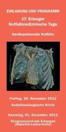 Programm - Anästhesiologische Klinik, Universitätsklinikum Erlangen