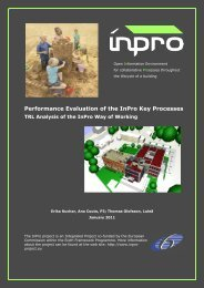 Performance evaluation of the InPro key processes: TRL