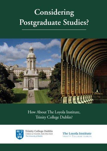 Considering Postgraduate Studies?