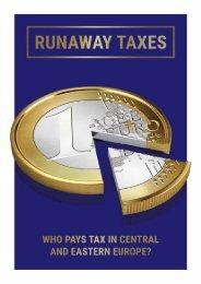 Runaway Taxes Who pays tax in Central and Eastern Europe?
