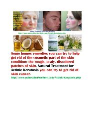 Actinic Keratosis Natural Treatment