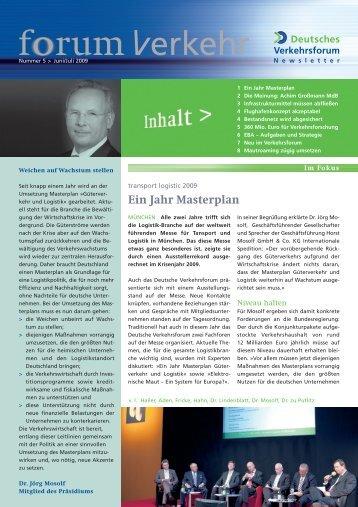 Ein Jahr Masterplan - Deutsches Verkehrsforum