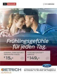 Autohaus Dietrich   Service Frühjahr 2017