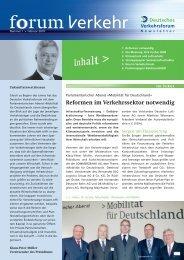 Politik-Spiegel - Deutsches Verkehrsforum