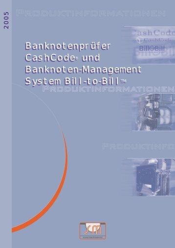 Banknotenprüfer CashCode® und Banknoten-Management System ...