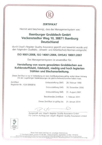 LRQA - Ilsenburger Grobblech GmbH