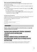 Sony ILCE-5000L - ILCE-5000L  Roumain - Page 3