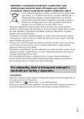 Sony ILCE-5000L - ILCE-5000L Consignes d'utilisation Tchèque - Page 5