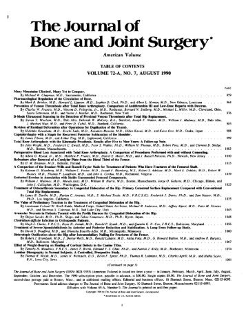 The Journal of Bone and Joint Surgery*