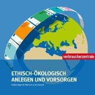 ETHISCH-ÖKOLOGISCH ANLEGEN UND VORSORGEN
