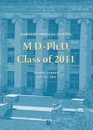 MD-Ph.D. Class of 2011 - Harvard Medical School - Harvard University