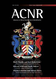 ACNR may/june 2007 - Advances in Clinical Neuroscience and ...