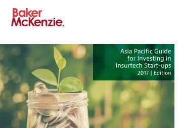 Asia Pacific Guide for Investing in Insurtech Start-ups