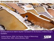 Towards a National Aquifer Framework? - Groundwater 2010