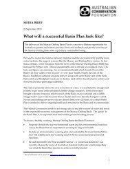 Basin Plan media brief 24-9-10 - Australian Conservation Foundation