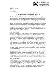 Basin Plan media brief 10-3-10 - Australian Conservation Foundation