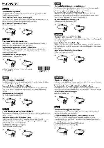Sony ILCE-5000L - ILCE-5000L Dépliant Italien