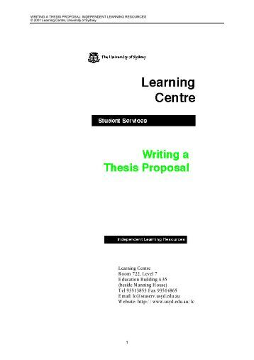 literature thesis proposal