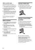 Sony CDX-G3200UV - CDX-G3200UV Consignes d'utilisation Suédois - Page 6