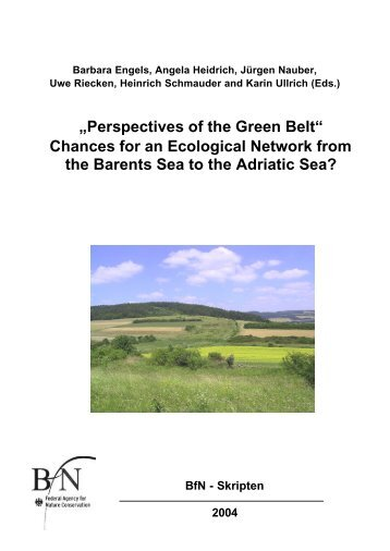 Perspectives of the Green Belt - Bundesamt für Naturschutz