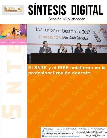 El SNTE y el INEE colaboran en la profesionalización docente