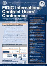 FIDIC International Contract Users' Conference 2012