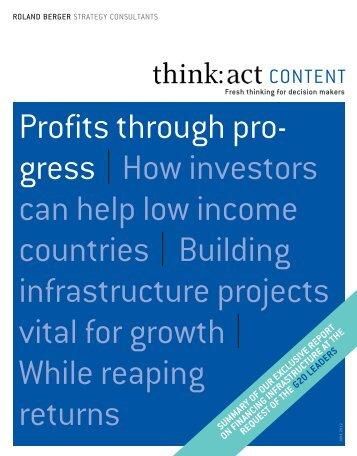 Profit through progress - Roland Berger