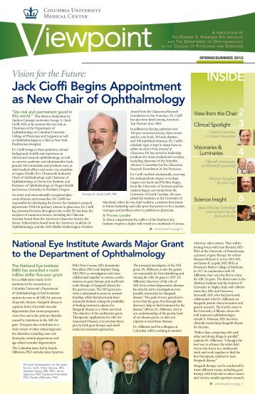 continued from page 1 - Edward Harkness Eye Institute