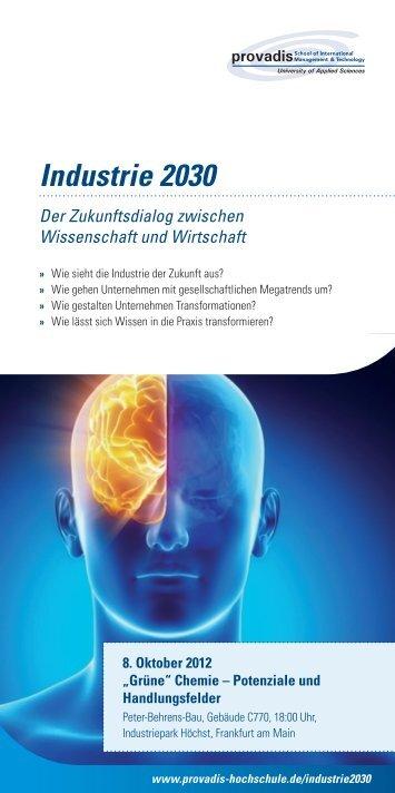 Industrie 2030 - Provadis Hochschule