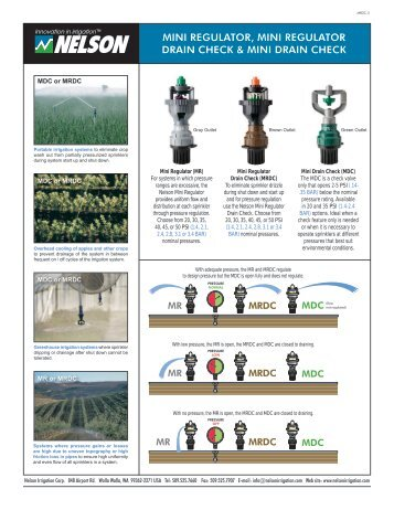 MR / MRDC / MDC Literature - Nelson Irrigation