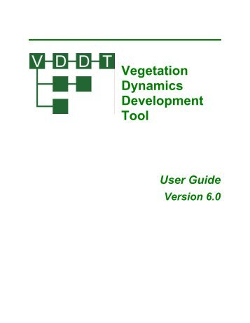 Vegetation Dynamics Development Tool User - ESSA Technologies