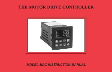 MDC Manual 1109KB - Red Lion Controls