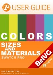Colors, Sizes and Materials Swatch PRO - BelVG Magento ...