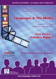 Post-Conference Report 2006 - Languages & The Media