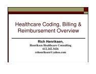 Healthcare Coding, Billing & Reimbursement Overview - Minnesota ...