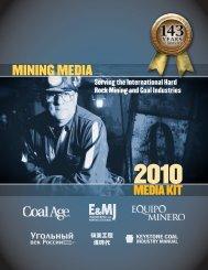 Coal Age 2010 Editorial Calendar - Mining Media