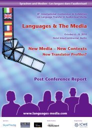 Post-Conference Report 2010 (PDF) - Languages & The Media
