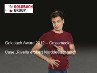 Titel Präsentation, Arial Regular, 30pt - Goldbachgroup