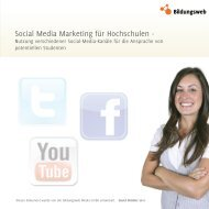 Social Media Marketing für Hochschulen -