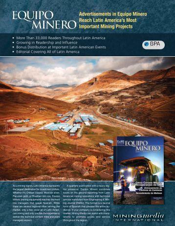 Equipo Minero 2012 Editorial Calendar - Mining Media