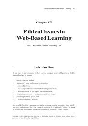 Ethical Issues in Web-Based Learning - A Design Media