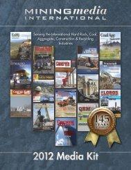 Coal Age 2012 Editorial Calendar - Mining Media