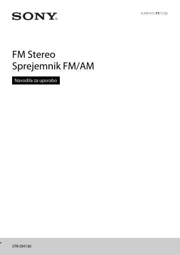 Sony STR-DH130 - STR-DH130 Istruzioni per l'uso Sloveno