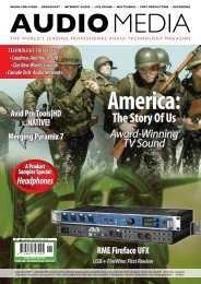 The Story Of Us Award-Winning TV Sound Avid Pro ... - Audio Media