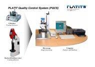 PLATIT Quality Control System (PQCS)