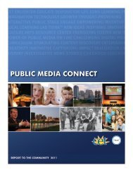 Public Media connect and our 2011 Report to the community - CET