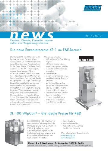 news - Mapag Maschinen AG