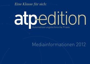 atp edition - Oldenbourg Industrieverlag GmbH / Vulkan Verlag GmbH