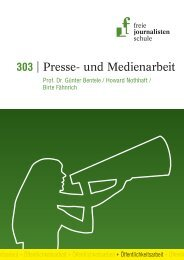 Presse- und Medienarbeit - Freie Journalistenschule